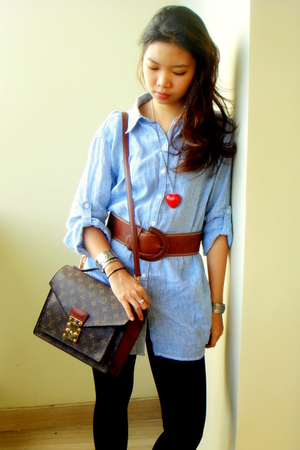 H&amp;M shirt - Topshop belt - China necklace