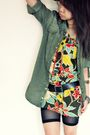 Green-zara-shirt-green-zara-dress-black-h-m-shorts-brown-china-bargain-mar