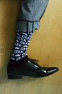 Black-geek-topman-socks-gray-trousers-vintage-pants