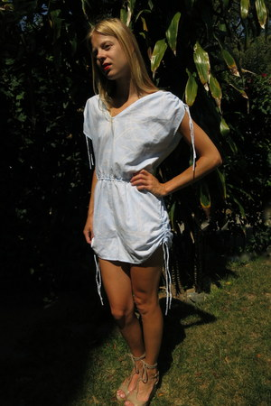 light blue fair season romper