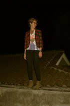 Forever 21 blazer - American Eagle jeans - heather gray Nine West boots - t-shir