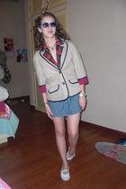 beige American Eagle blazer - red Forever 21 blazer - blue Roxy skirt - white Ju