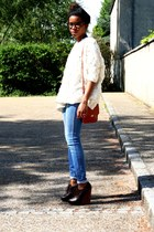 Chloe wedges - H&M jeans - Violette Tannenbaum sweater - vintage bag