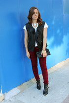 leather shoemint boots - cotton H&M shirt - Zara pants