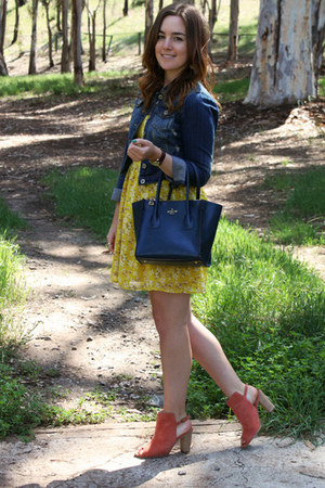 American Eagle dress - 33 Field Trip bag - Faith via Asos heels