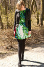 Chartreuse-ax-paris-dress-black-sheinside-jacket-black-asos-flats