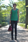 Navy-lee-jeans-ruby-red-h-m-bag-green-zara-blouse-black-atmosphere-wedges