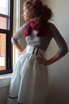 scarf - shirt - fancy clothing skirt