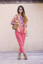 bubble gum American Apparel jacket - amethyst American Apparel blouse