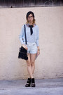 Aquamarine-topshop-sweater-black-unknown-bag-aquamarine-zara-shorts