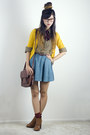 Yellow-urban-outfitters-cardigan-tawny-sam-edelman-boots