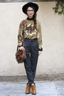 Bronze-thrifted-vintage-shirt-tawny-sam-edelman-boots-black-nasty-gal-hat