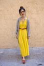 Yellow-american-apparel-dress-ruby-red-american-apparel-belt