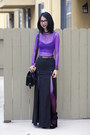 Black-unknown-bag-black-shown-to-scale-skirt-purple-american-apparel-top