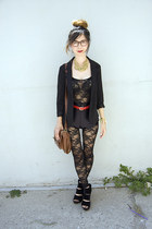 black Urban Outfitters blazer - black American Apparel shorts