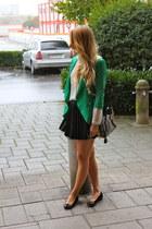 Marshalls blazer - Zara shirt - Prada bag - H&M skirt - Gucci flats