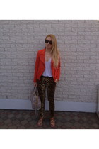 Zara jacket - Prada bag - Dolce Vita sandals - Zara pants