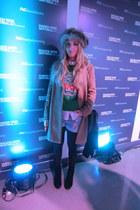 Mango coat - vintage hat - Choies sweater - hm shorts