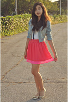H&M skirt - H&M jacket - unknown top - Bakers flats