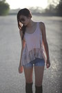 Blue-forever-21-shorts-black-forever-21-socks-brown-h-m-sunglasses
