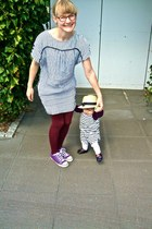Zara dress - H&M stockings - Converse sneakers