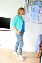 H&M jacket - acne t-shirt - H&M Trend jeans - Jim Rickey shoes