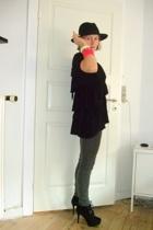 asos hat - mbym blouse - pieces jeans - Topshop boots
