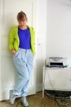 GINA TRICOT jacket - Acne Jeans t-shirt - GINA TRICOT jeans - Jim Rickey shorts