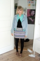 Monki jacket - H&M jacket - Topshop skirt - Topshop shoes