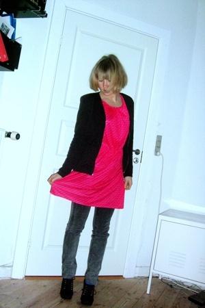 H&M Trend blazer - vintage dress - Dr Denim jeans - H&M shoes