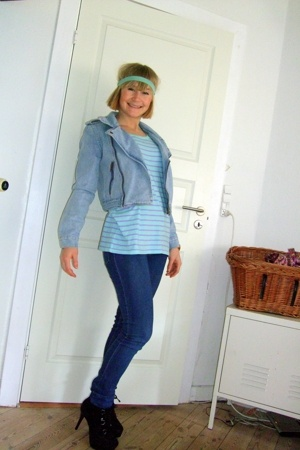 Monki jacket - Monki t-shirt - Cheap Monday jeans - Topshop boots