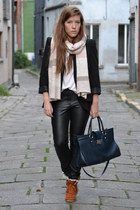 pants - shoes - blazer - scarf - bag