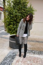houndstooth Stradivarius coat