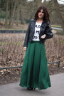 Biker-suiteblanco-jacket-long-skirt-zara-skirt