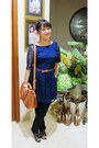 Blue-layered-debenhams-dress-tawny-sling-bag-bonita-bag
