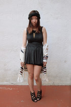 dark gray brandy melville dress - cream Forever 21 sweater