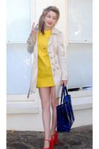 asos dress - Forever New coat - Burberry bag - bulgari bracelet - dune heels