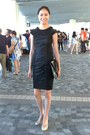 Ted-baker-dress-black-asos-purse-black-patent-franco-sarto-pumps