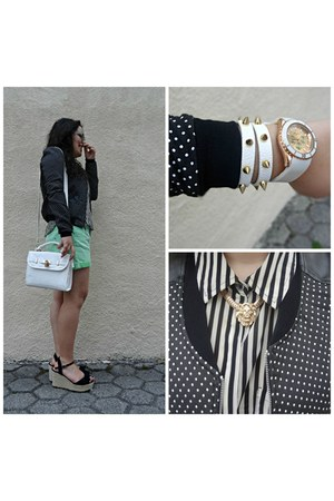 Parfois watch - Tally Weijl jacket - Forever 21 blouse