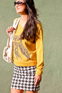 Owl-sweater-kensie-sweater-ivory-bag-michael-kors-bag-tee-by-big-star-skirt
