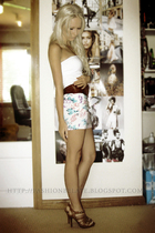 white supre skirt - white supre top