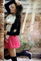black supre top - pink Mooloola skirt - black Razzamatazz leggings - beige Valle