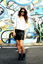 ankle boots H&M boots - bleached denim Victorias Secret shirt