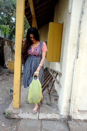 Bandra dress - thrifted accessories