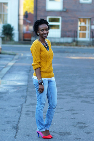 F&F sweater - Miss Selfridge jeans - barratts heels