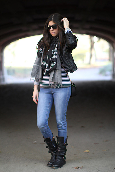 H&amp;M jeans - Fiorentini  Baker boots - Lacoste top - Bebe jacket - Alexander McQu