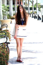 white Forever 21 dress - red Pierre Dumas shoes