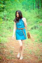 denim Gap dress - Rebecca Minkoff bag - leather asos belt - Diba sandals