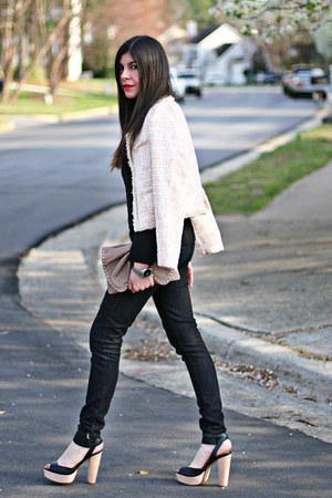 Chanel jacket - sold design lab jeans - Marc Jacobs bag - Zara heels