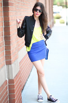 varsity American College jacket - HoBo International bag - romwe skirt
